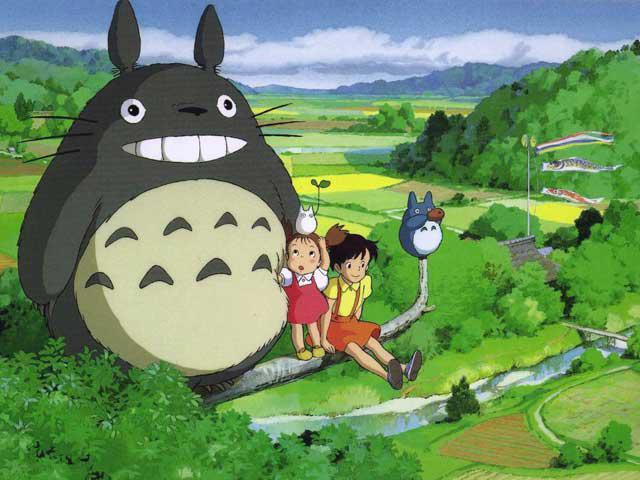 Snapshot of a scene from Studio Ghibli's film My Neighbor Totoro