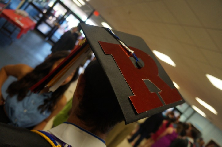 My graduation cap. It's the Rutgers Block-R!