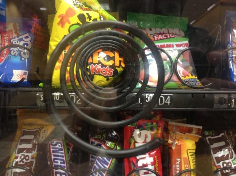 Sour Patch Kids Broken Coil in Vending Machine
