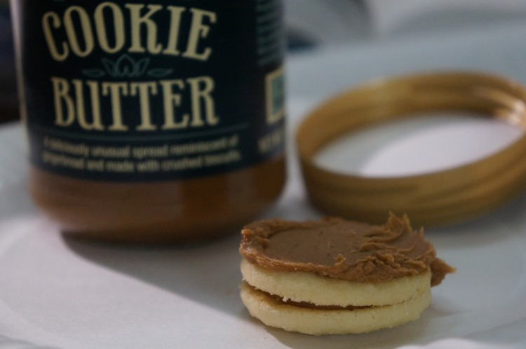 cookie butter on cookie butter cookies