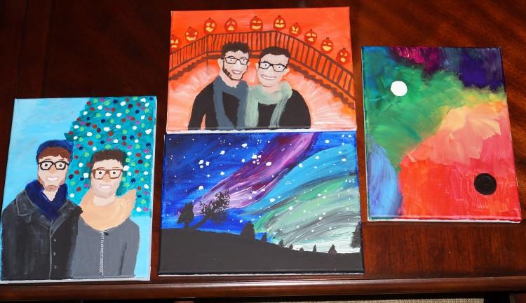 My Four Impulse Paintings
