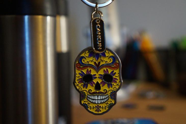 calavera keychain