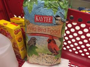 Restocking My Supply of Wild Bird Food.