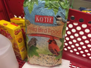 Restocking My Supply of Wild Bird Food.
